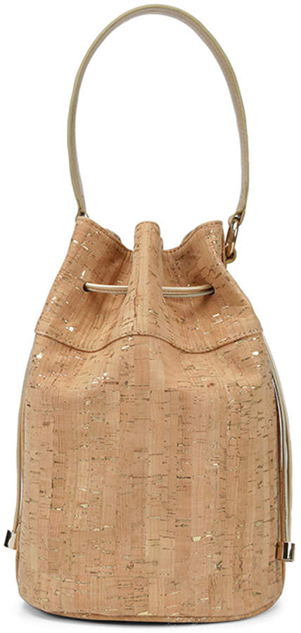 DORINDA DORINDA - Hot for the season, the DORINDA tops our bucket list. Detailed with slouchy design, drawstring closure and distressed metallic cork, this carry-all handbag is a wardrobe must-have.