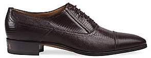 Gucci Men's Plata Lizard Textured Shoes