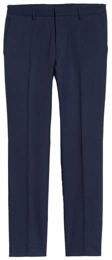 Ben Flat Front Solid Wool Trousers