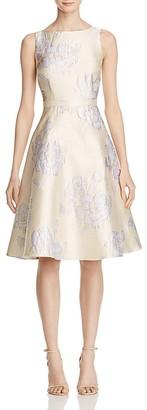 Adrianna Papell Floral Jacquard Dress $229 thestylecure.com