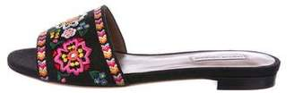 Tabitha Simmons Embroidered Flat Sandals