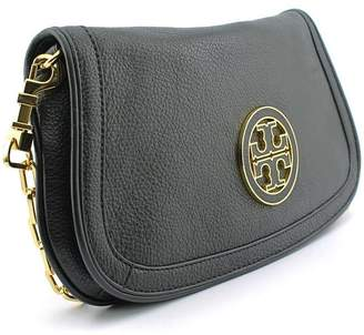 Tory Burch Womens Amanda Logo Leather Clutch BAG