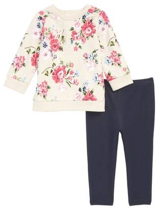 Little Me Floral Top & Leggings Set