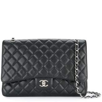 Chanel Pre-Owned quilted double chain shoulder bag
