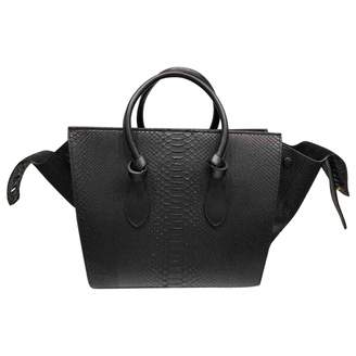 Celine Black Python Handbag