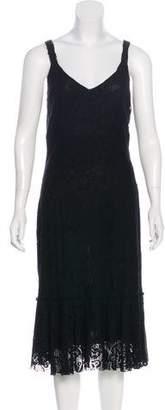 Dolce & Gabbana Lace-Accented Sleeveless Midi