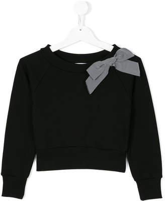 Dondup Kids bow detail sweatshirt