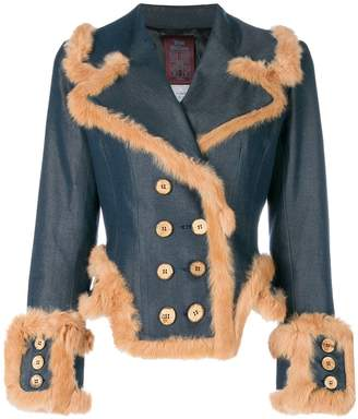 John Galliano Pre-Owned double-breasted denim jacket