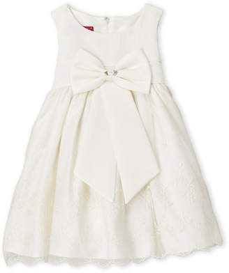 Princess Faith (Toddler Girls) Bow Front Embroidered Dress