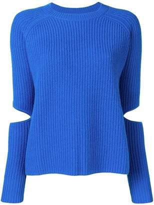 Zoe Jordan slit sleeve jumper