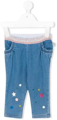 Little Marc Jacobs printed denim leggings