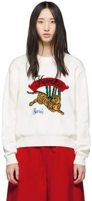 Kenzo White Bamboo Tiger Sweater