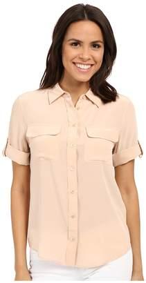 Equipment Short Sleeve Slim Signature Women's Blouse