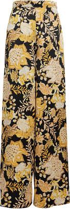Thurley Isla Floral Silk Palazzo Pants
