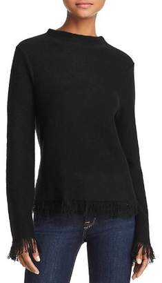 Aqua Fringed Cashmere Sweater - 100% Exclusive