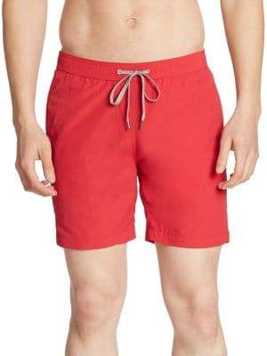 Saks Fifth Avenue COLLECTION Solid Nylon Swim Trunks