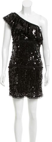 RED Valentino Red Valentino One-Shoulder Sequin Dress