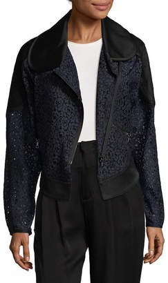 Marissa Webb Phoenix Crepe & Lace Jacket