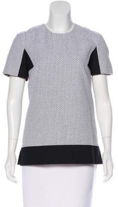 Richard Nicoll Short Sleeve Textured Top