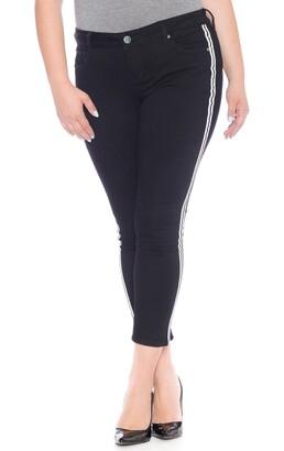 SLINK Jeans Double Stripe Ankle Skinny Jeans