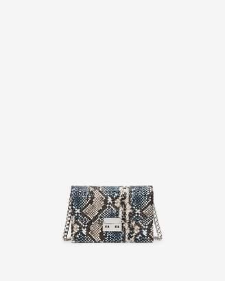 Express Blue Snakeskin Print Event Bag