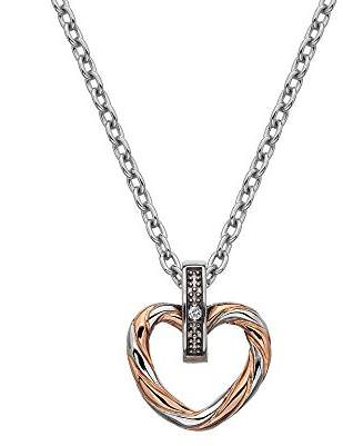 Hot Diamonds Women 925 Sterling Silver Diamond Pendant Necklace of Length 45cm DP690