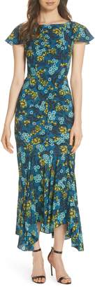 Saloni Daphne Floral Print Dress