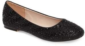 Ralph Lauren Lorraine Brenda Crystal Embellished Ballet Flat