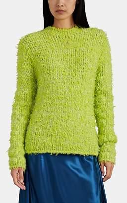 Sies Marjan Women's Leta Iridescent Fuzzy Sweater - Bt. Green