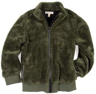 Appaman Woodland Plush Zip-Up Jacket, Size 2-10