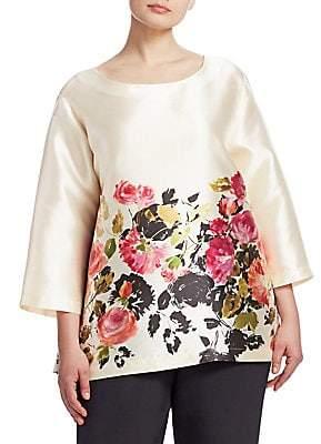 Caroline Rose Women's Floral-Print Tunic