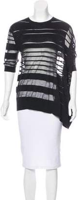 AllSaints Asymmetrical Striped Sweater