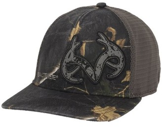 Mossy Oak Realtree Xtra Black Camo Stretch Fit Cap; Large / X-Large