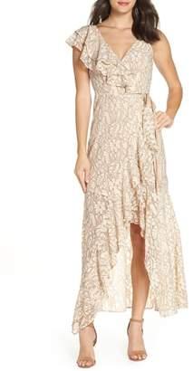 Ali & Jay I've Got Moves Lace Maxi Wrap Dress