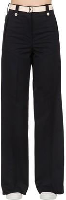 Moncler Cotton Bull Wide Leg Pants