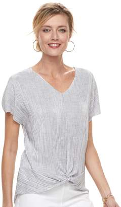 Dana Buchman Women's Twist-Front Textured Top