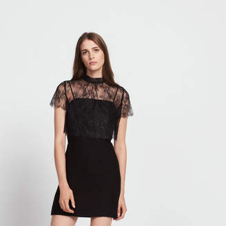 Sandro Dress with crop top made from lace