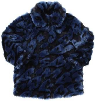 Stella McCartney Leopard Faux Fur Coat