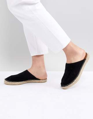Selected Suede Backless Espadrille