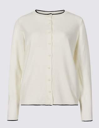 Marks and Spencer Round Neck Long Sleeve Cardigan