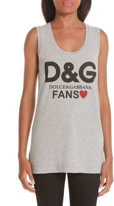 Dolce & Gabbana Fans Graphic Jersey Tank Top