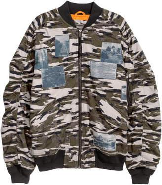 H&M Padded Bomber Jacket - Gray