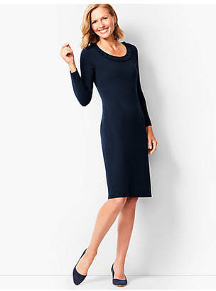 Talbots Jewel-Neck Sweater Shift Dress