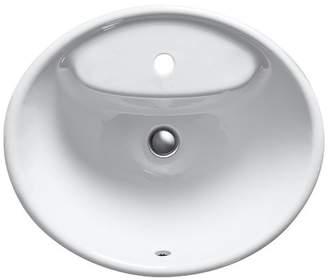 Kohler Tides Metal Oval Drop-In Bathroom Sink with Overflow