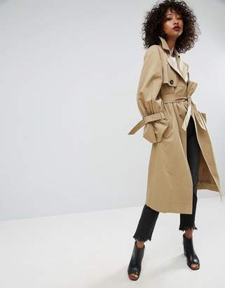 ASOS Trench with Statement Sleeve $119 thestylecure.com