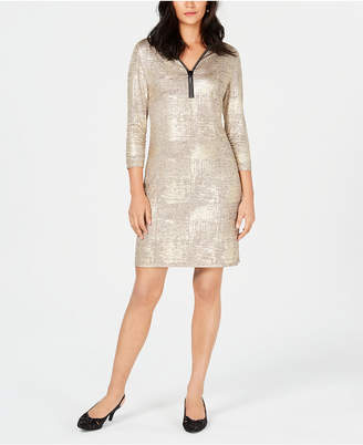 JM Collection Foil Print-Dress