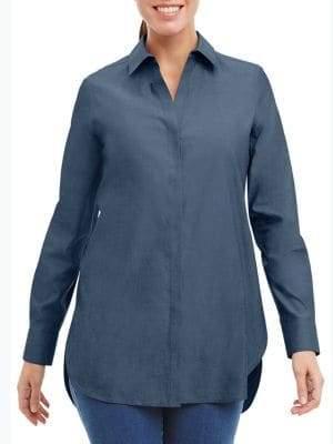 Foxcroft Striped Cotton Tunic