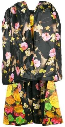 Richard Quinn floral print oversized high low dress