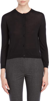 Jil Sander Black Button Cardigan