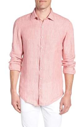 Rodd & Gunn Warwick Junction Stripe Linen Sport Shirt
